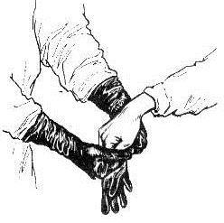 Одевание стерильных перчаток хирургом