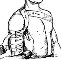 Спиральная повязка на плечо