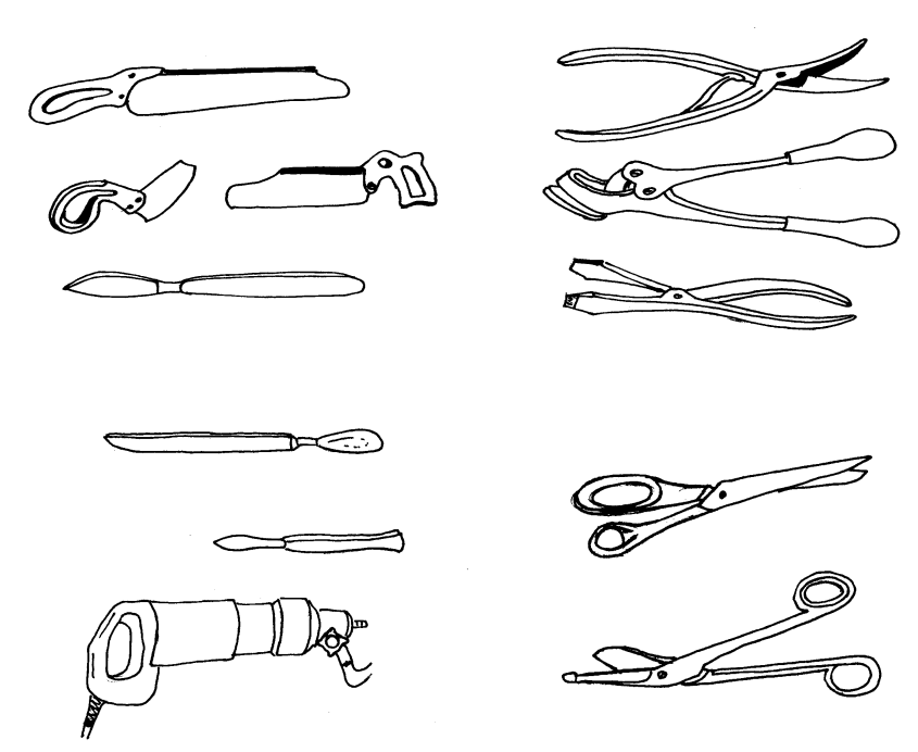 Инструменты для снятия гипсовых повязок