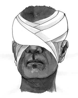Повязка на оба глаза