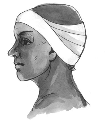 Повязка на ухо «неаполитанская шапочка»