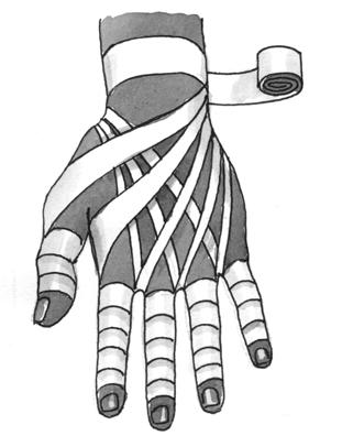 Повязка на все пальцы «рыцарская перчатка»