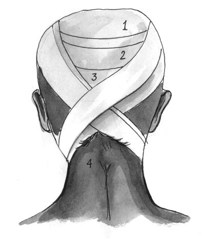 Восьмиобразная повязка на затылок