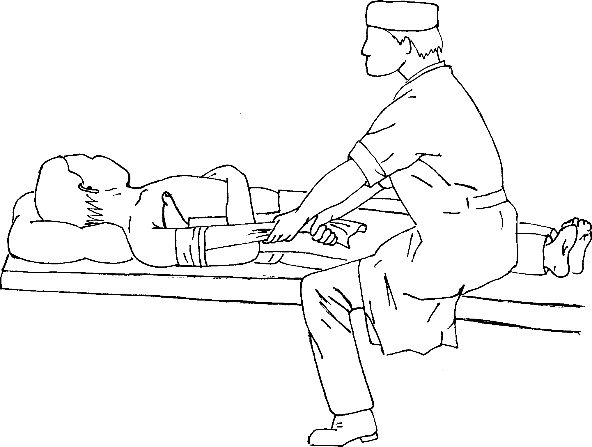 Вправление плеча по способу Гиппократа