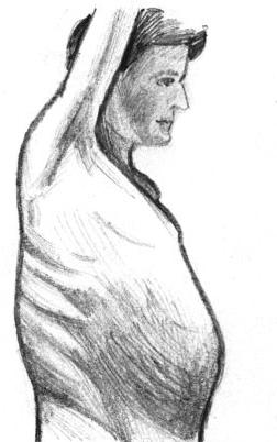 Вид больного с эхинококком печени